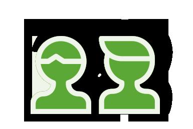 Zwei Personen als Icon