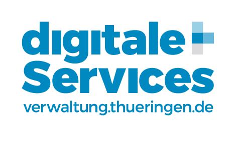 Logo diitale Services mit URL Verwaltungsportal
