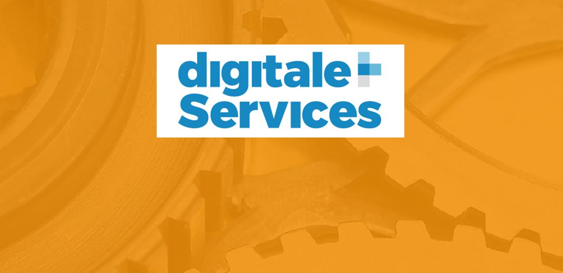 Grafik mit der Aufschrift Digitale Services