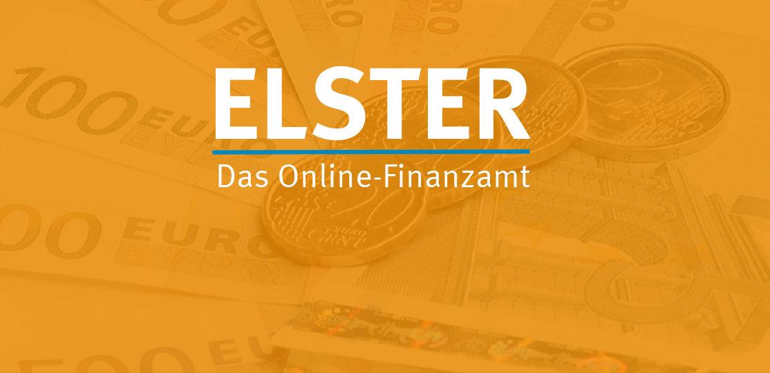 Schriftzug Elster - Das Online-Finanzamt