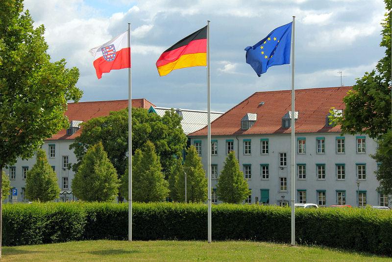 Außenansicht des Dienstgebäudes des Thüringer Finanzministeriums