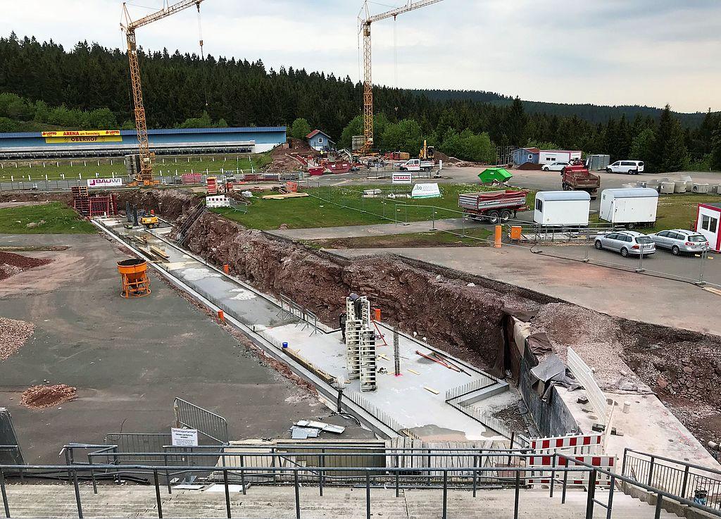 Standhaft: Das neue Tunnel-Fundament ebnet den zukünftigen Weg der weltbesten Biathleten auf dem Weg in die ARENA.